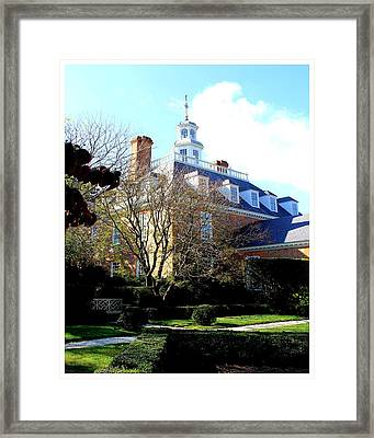 The Governors Palace Framed Print