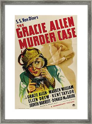 The Gracie Allen Murder Case, Gracie Framed Print