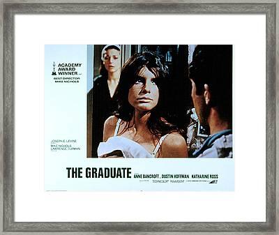 The Graduate, Anne Bancroft, Katharine Framed Print