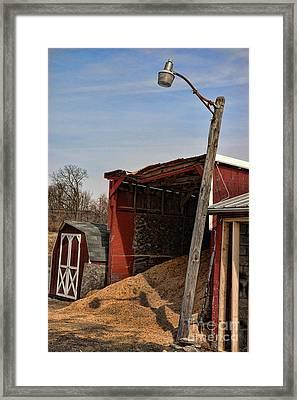The Grain Barn Framed Print by Paul Ward