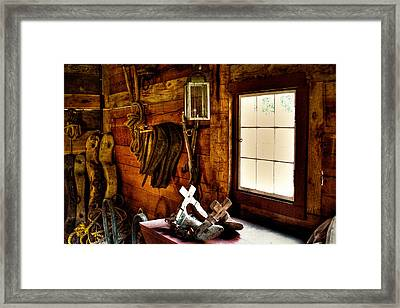 The Granary At Fort Nisqually Framed Print by David Patterson