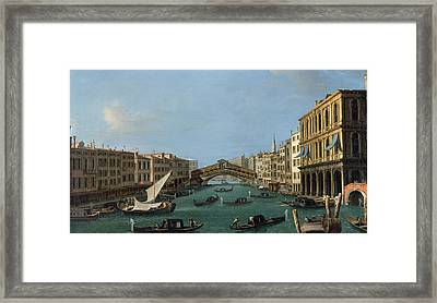 The Grand Canal Framed Print by Antonio Canaletto