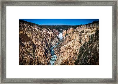 The Grand Canyon Of Yellowstone Framed Print by Brad Boserup