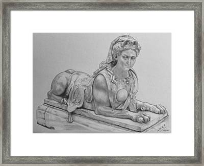 The Grand Sphinx Framed Print by Miguel Rodriguez