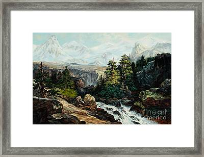 The Grand Tetons By Thomas Moran Study By W Scott Fenton Framed Print by W  Scott Fenton