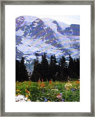 Framed Print featuring the photograph The Grand Tetons In Jackson  by Shawn Hughes