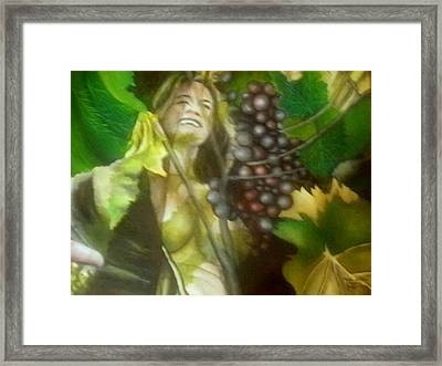 The Grapes Framed Print by Joao Rebelo