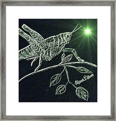 The Grasshopper Framed Print by Maria Urso