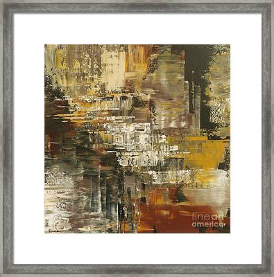 Framed Print featuring the painting The Gravelpit Code by Tatiana Iliina