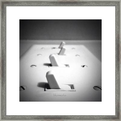 The Gray Area Framed Print