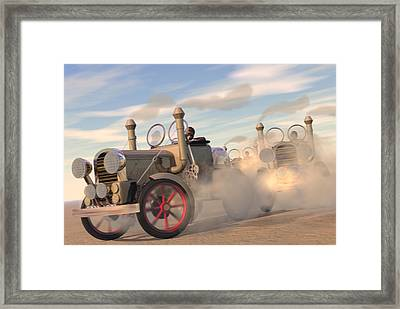 The Great Automobile Race Framed Print