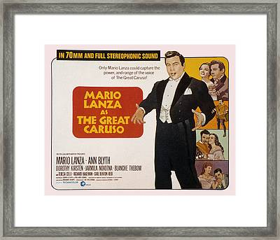 The Great Caruso, Mario Lanza, Ann Framed Print