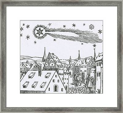 The Great Comet Of 1556 Framed Print