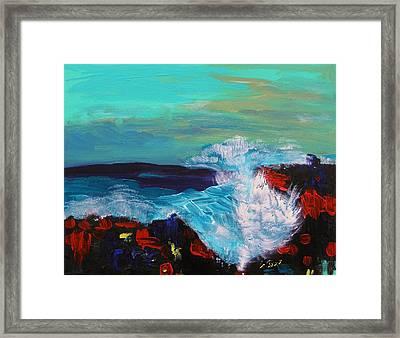 The Great Crash Framed Print by Mary Carol Williams