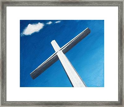 The Great Cross - Resurrection Framed Print by Kelvin Kelley