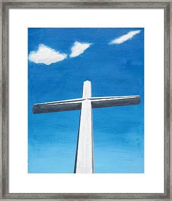 The Great Cross - Risen Framed Print by Kelvin Kelley