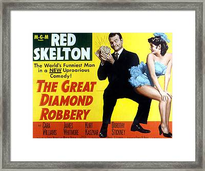The Great Diamond Robbery, Red Skelton Framed Print by Everett