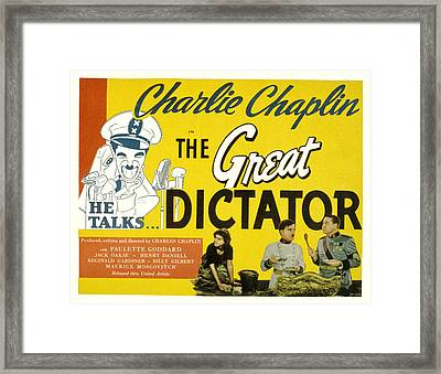 The Great Dictator, Paulette Goddard Framed Print by Everett