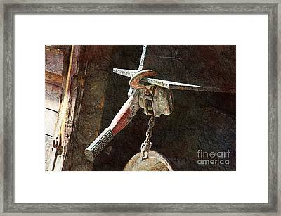 The Great Hoist Framed Print by Andee Design