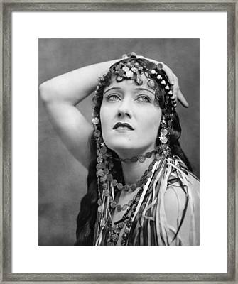The Great Moment, Gloria Swanson, 1921 Framed Print