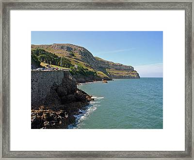 The Great Orme Coastline Framed Print by Rod Johnson