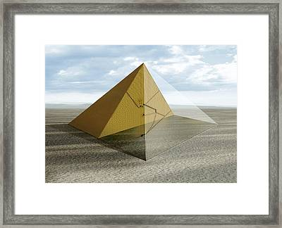 The Great Pyramid, Egypt Framed Print by Claus Lunau