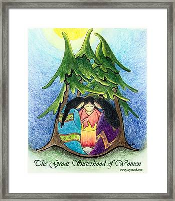 The Great Sisterhood Of Women Framed Print by Joey Nash