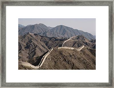 The Great Wall Snakes Framed Print by Dean Conger