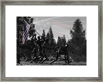 Framed Print featuring the photograph The Greatest Generation  by Larry Depee