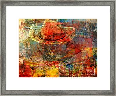 The Greatest Hope Is Not The Hat Framed Print by Fania Simon