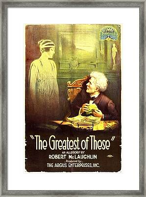 The Greatest Of These, From Left, Belle Framed Print by Everett