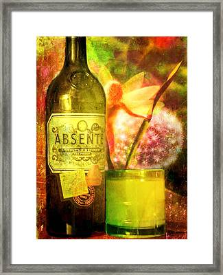 The Green Fairy Framed Print by Leah Moore