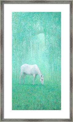 The Green Glade Framed Print