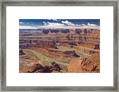 The Green-hued Colorado River Running Framed Print by Mike Theiss