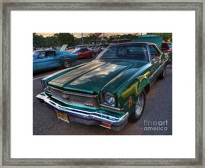 The Green Machine - Chevrolet Chevelle  Framed Print by Lee Dos Santos