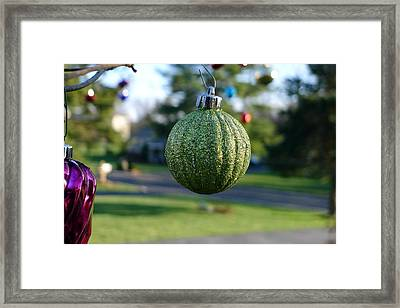 The Green One Framed Print by Richard Reeve