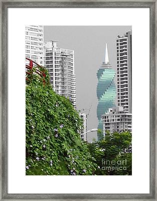 The Green Season In Panama Framed Print