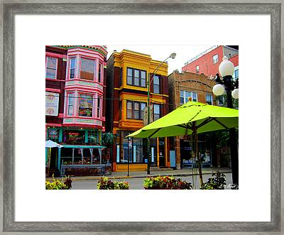 The Green Umbrella Framed Print by Michael Durst