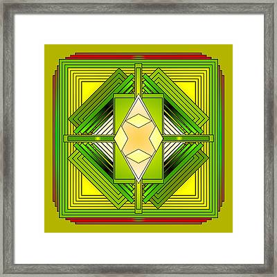 The Greens Of Summer Framed Print by Mario Carini