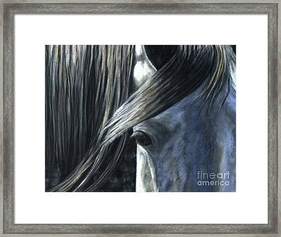Framed Print featuring the painting The Grey by Sheri Gordon