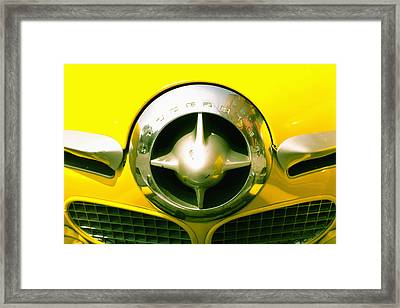 The Grill Of A Yellow Studebaker Car Framed Print by David DuChemin
