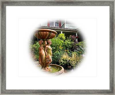 The Grumble House Fountain Postcard Framed Print by Warren Thompson