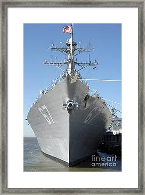 The Guided Missile Destroyer Uss Cole Framed Print by Stocktrek Images