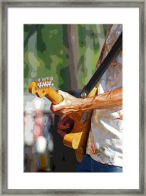 The Guitar Player Framed Print by Margie Avellino