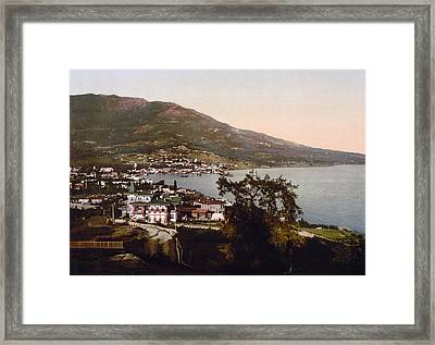 The Gulf Jalta -ie Yalta - The Crimea - Russia -ie- Ukraine Framed Print