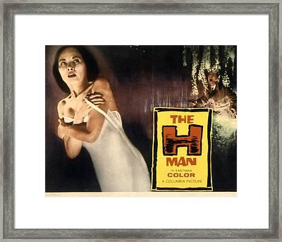 The H-man, Aka Bijo To Ekitainingen Framed Print by Everett