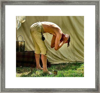 The Half Bath Framed Print by Julie Dant