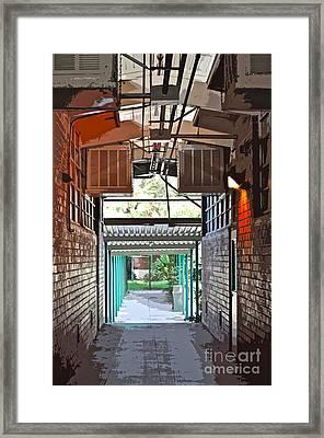 The Hallway Framed Print by Gwyn Newcombe