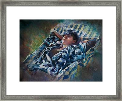 The Hammock Framed Print by Gilly Marklew