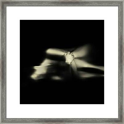 The Hand Of Hope #abstract #art #bw Framed Print